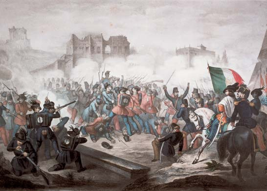 Garibaldi Red Shirts. Garibaldi defends Rome against