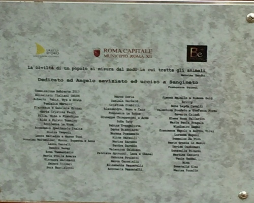 Donors and sponsors. The Gandhi quote reads 'The civilization of a people can be measured by the way they treat their animals.'